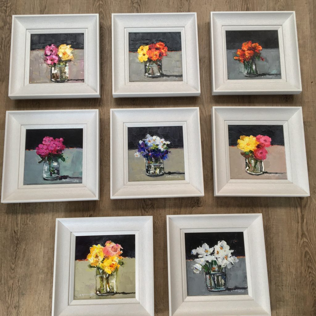 Eight New Little Flower Paintings