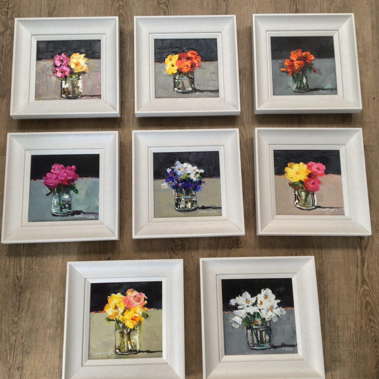 Eight New Little Flower Paintings